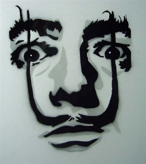 stencil pattern artists dali stencil by horrorpopsicle on deviantart