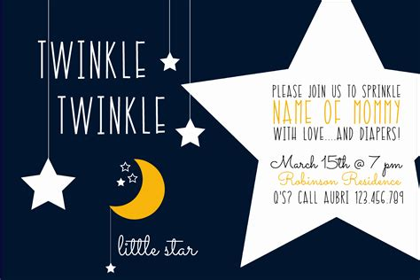 Twinkle Twinkle Card Templates by Twinkle Twinkle Baby Shower The Diy Lighthouse