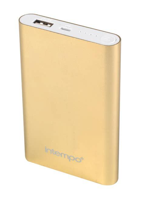 Power Bank Gmc 8000mah intempo eg0324 gold 8000mah aluminium power bank charger ebay