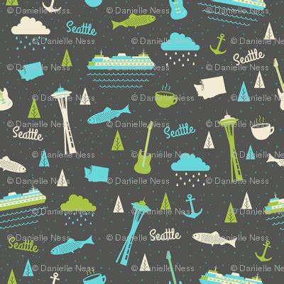 seattle map fabric seattle fabric hey darlin spoonflower