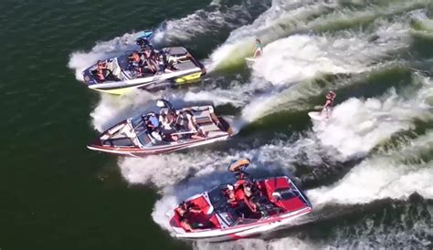tige boats party wave josh and sierra kerr just surfed the most weird party wave