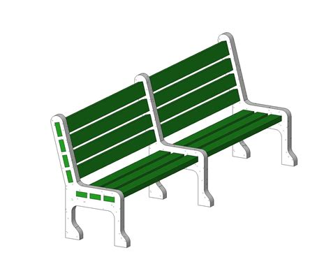 park bench software generic site furnishings bim objects families