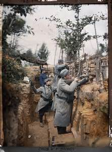 wwi in color wwi trench warfare color