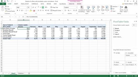 excel pivot tables for dummies how to create custom calculations for an excel pivot table