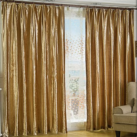 Gold Blackout Curtains Gold Velvet Fabric Curtains For Thermal And Blackout