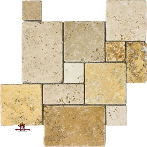 opus pattern travertine tiles mix opus mini french pattern travertine los angeles