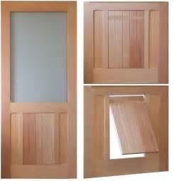 Dog Door Saranac Traditional Style Screen Storm Door Solid Wood