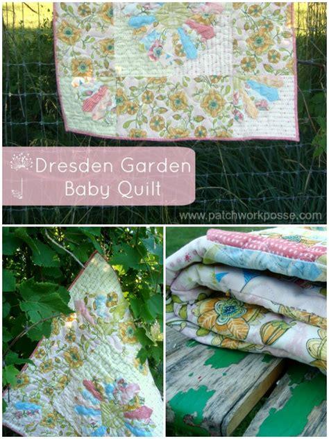 Patchwork Gardens - dresden garden baby quilt tutorial