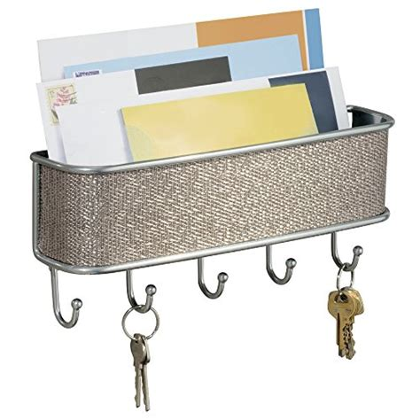 Wall Mounted Mail Organizer And Key Rack by Wall Mount Storage Mail Letter Key Holder Rack Organizer