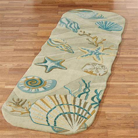 coastal rug runners coastal seashell area rugs