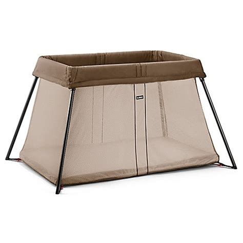 Baby Bjorn Travel Crib Sheets Babybjorn 174 Travel Crib Light In Light Brown Buybuy Baby