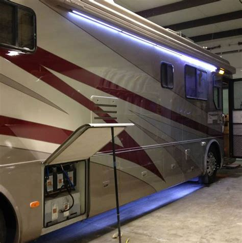 motorhome awning lights mackin street customs rv eugene or custom led lights added