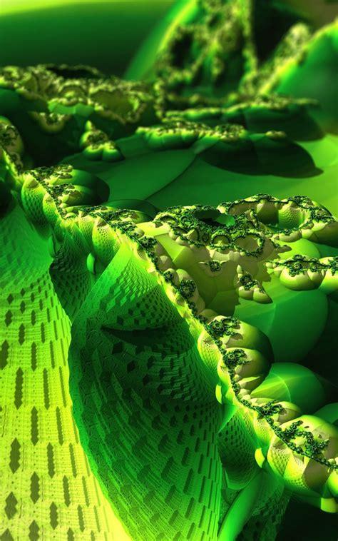 green fractal wallpaper wallpapersafari