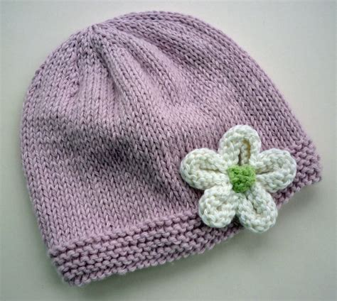 easy knitted beanies free patterns knit hat with flower patterns a knitting
