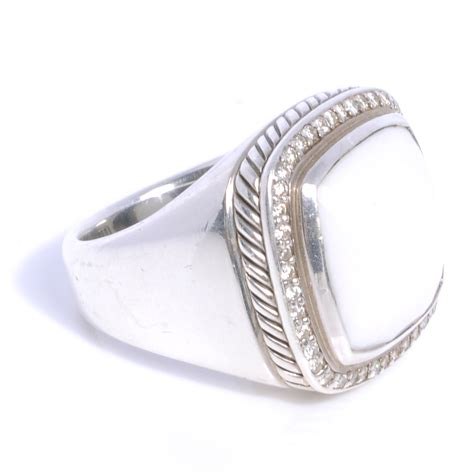 david yurman sterling silver 17mm white agate ring