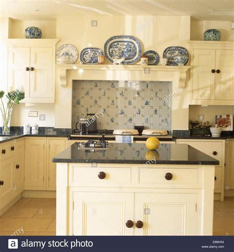 granite topped kitchen island granite topped island unit in country kitchen with 35