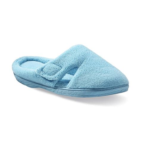 Dearfoams Bedroom Slippers by Dearfoams S Hook And Loop Tab Clog Slipper Aquarius Blue Shop Your Way