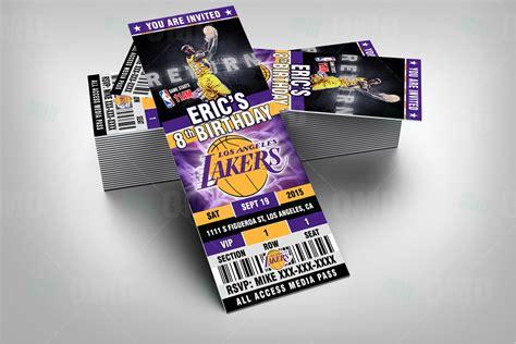 La Lakers 1 sports invites 2 5 215 6 los angeles lakers sports ticket