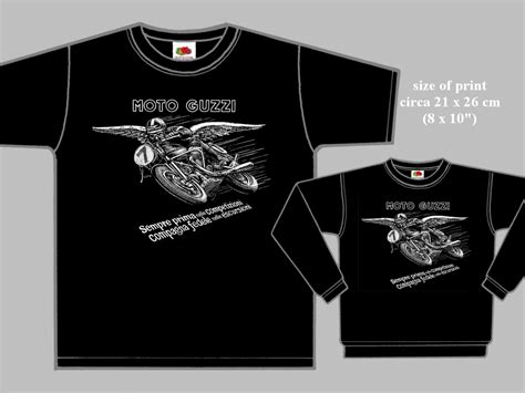 Tshirt Cafe Racer California moto guzzi racer t shirt black 2101 motociclo