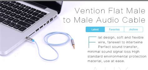 Vention Aac 0 75m Kabel Hdmi To vention 3 5mm flat audio cable 0 75m view audio cable vention product details from ningbo
