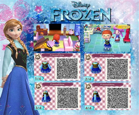 design clothes new leaf animal crossing new leaf qr anna from frozen by