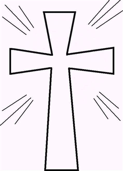 coloring page cross printable cross pictures clipart best