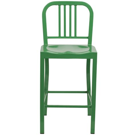 Green Metal Counter Stools by 24 High Green Metal Indoor Outdoor Counter Height Stool