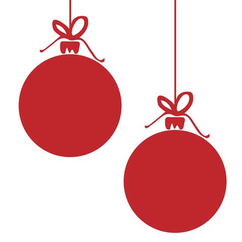 giant christmas bauble wall stickers pack of 4 by bloobry