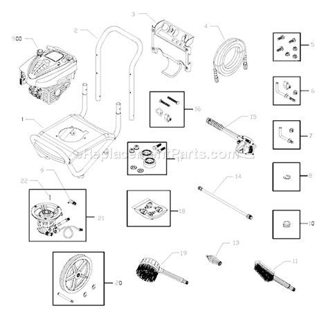 troy bilt pressure washer diagram troy bilt 020240 0 parts list and diagram