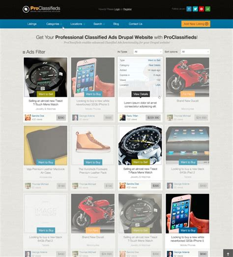 drupal themes list pro classifieds for drupal classified ads theme module
