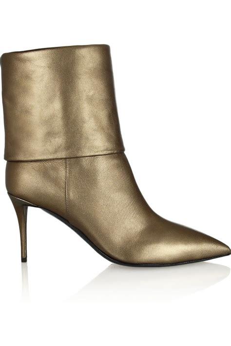 Metallic Giuseppe Zanotti Boot by Giuseppe Zanotti Yvette Metallic Leather Ankle Boots