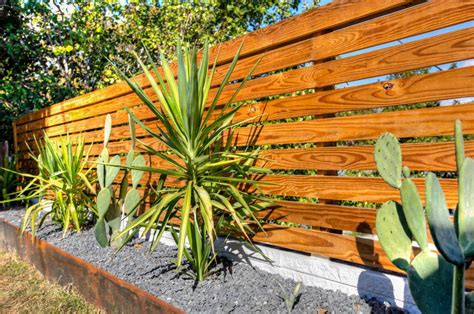Modern Garden Fencing Ideas Contemporary Fencing Ideas Patio Contemporary With Wood Clad Fence Patio Furniture Horizontal Fence