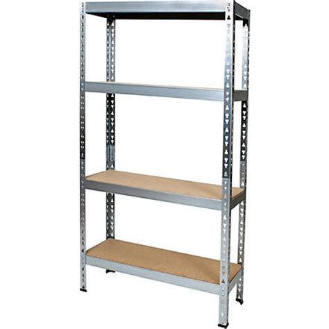 4 tier small metal shelving rack