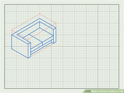 how to draw a 3d sofa how to draw furniture in 3d with pictures wikihow