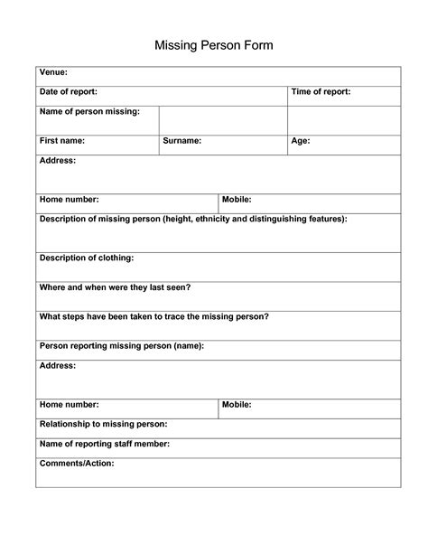 person report template best photos of generic report forms