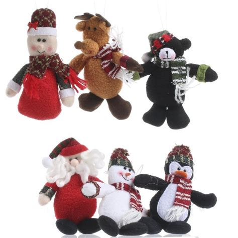 plush christmas ornament set christmas ornaments