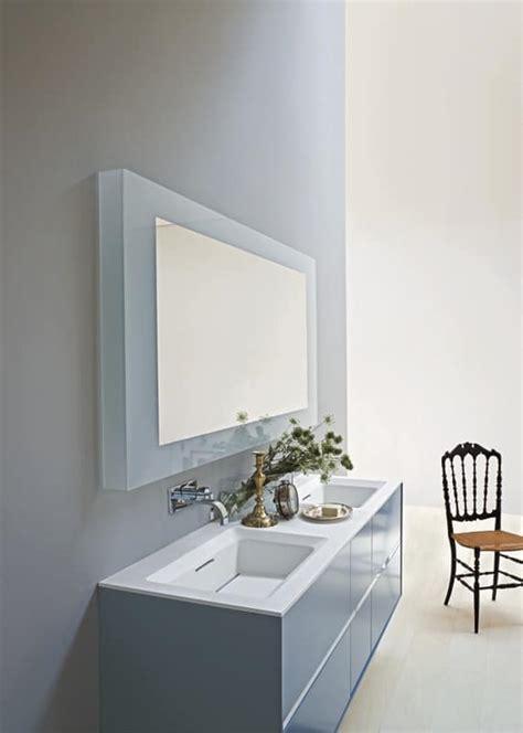 badezimmerschränke mit schubladen badezimmer schrank mit zwei waschbecken mattblaue farbe