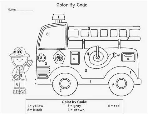 truck color by number coloring pages crafts actvities and worksheets for preschool toddler and
