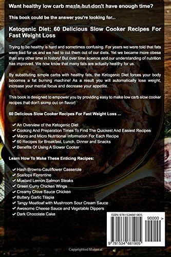 ketogenic cooker cookbook ultra low carb keto cooker recipes for effortless weight loss books ketogenic diet 60 delicious cooker recipes for fast