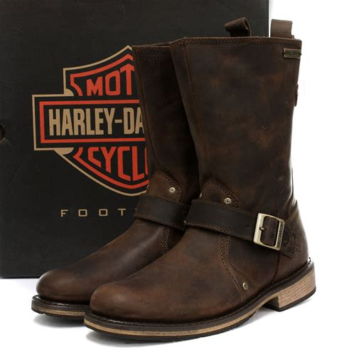 brown leather harley boots harley davidson jayden mens boot brown leather engineer