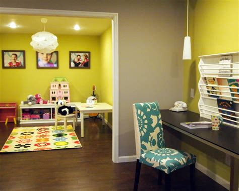 happy bold basement playroom contemporary philadelphia by shoshana gosselin