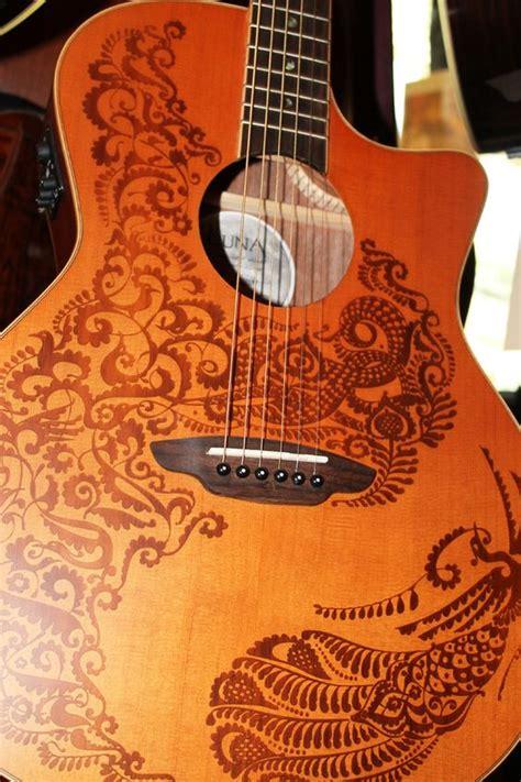 henna design guitar loving the henna design on this luna acoustic guitar