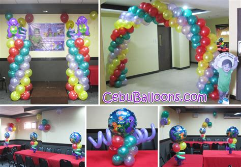barney themed decorations barney cebu balloons and supplies