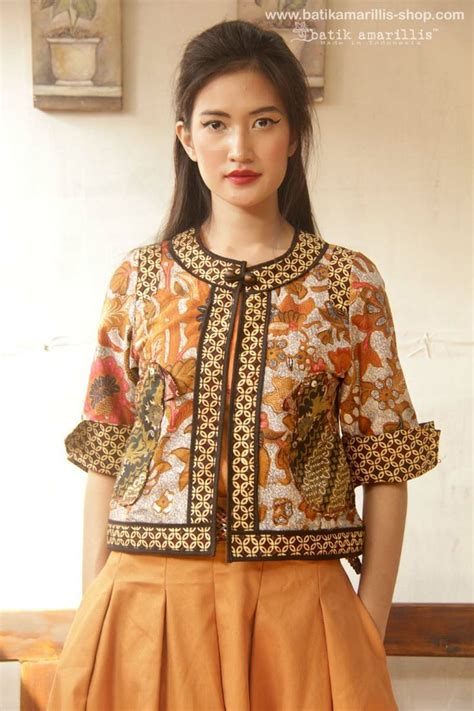 Baju Batik Modern Bolero Blouse Batik Applique Baju Atasan Bol003a 29 best thai silk fashoin images on jackets