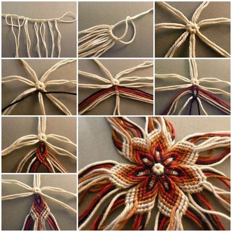 diy yarn projects diy no knit weaving flower of yarn