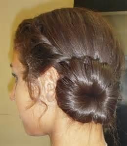 junior bridesmaid hairstyle bun twist braid my
