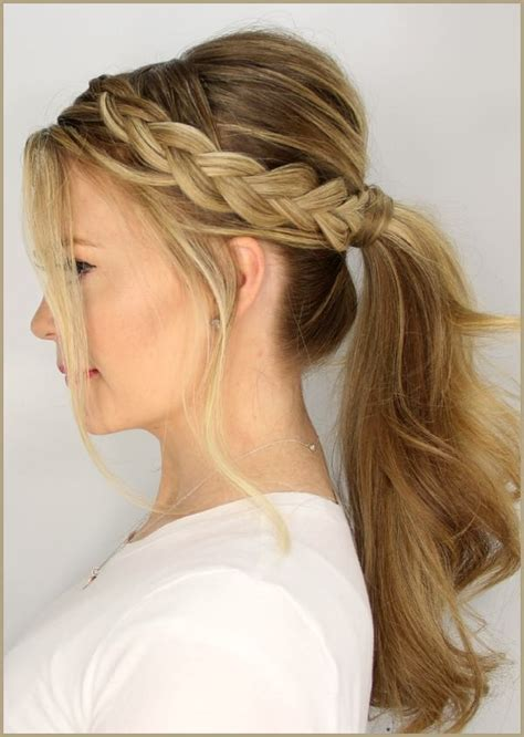 medium length hair for black tie easy braided hairstyle ideas for medium length hair elle