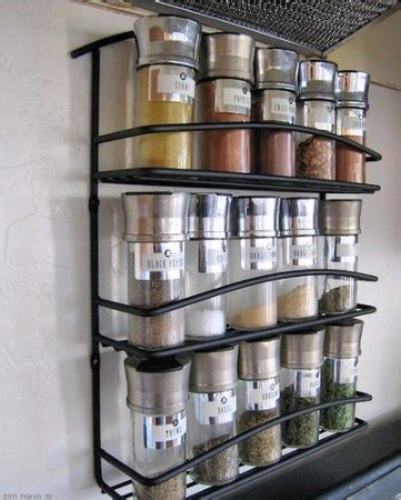 Spice Rack Wall Mount by Wall Mount Spice Rack Organization Around The House