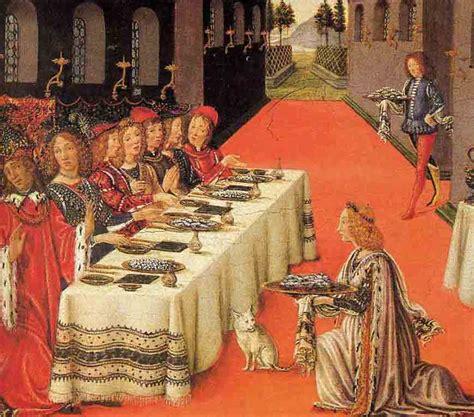 banchetti rinascimentali immagini d autore chi non mangia in compagnia