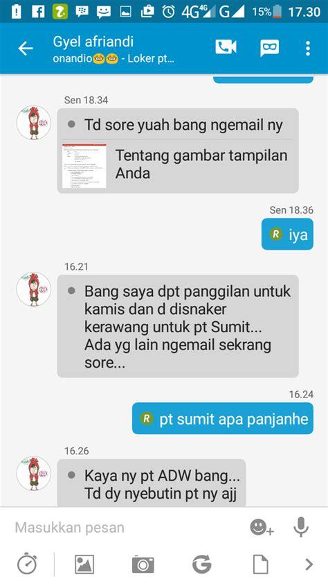 email pt pt summit adyawinsa indonesia pt sai random email loker